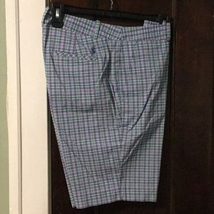 Polo Golf Ralph Lauren Blue Green Plaid Shorts  4